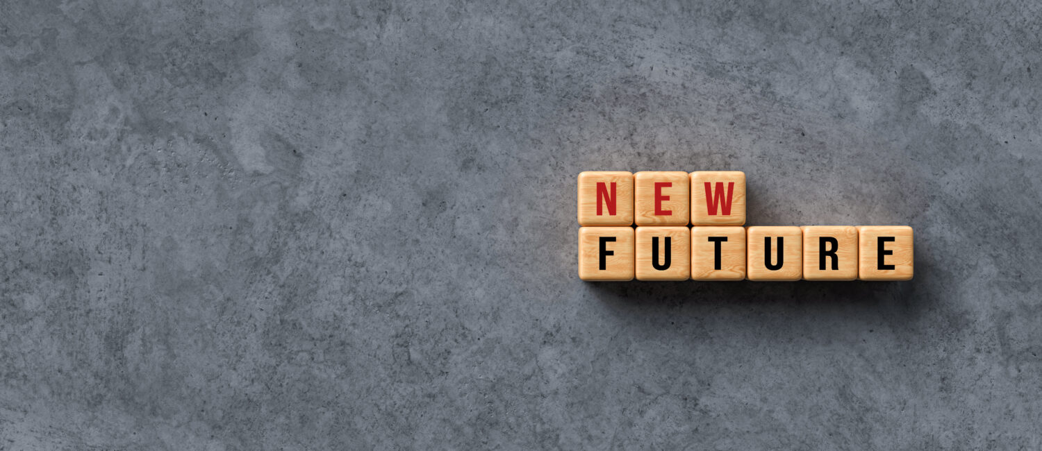 """Wooden Letters Spelling """"New Future"""""""