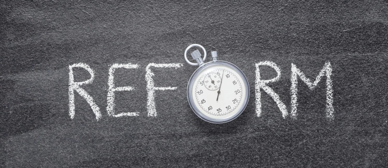 Reform written in Chalk